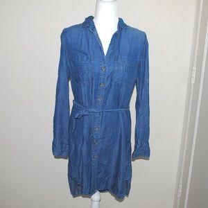 Cloth & Stone Chambray Denim Button Down Dress